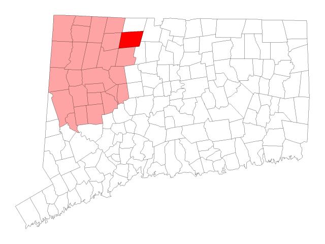 Barkhamsted locator map