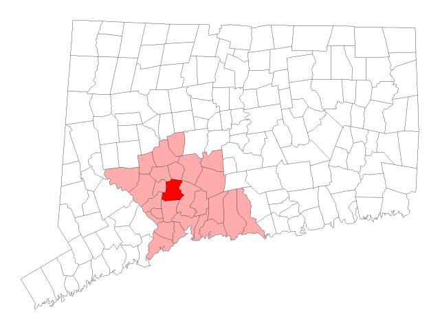 Bethany locator map