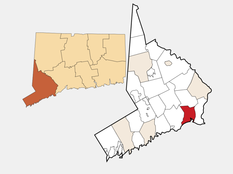 Bridgeport locator map