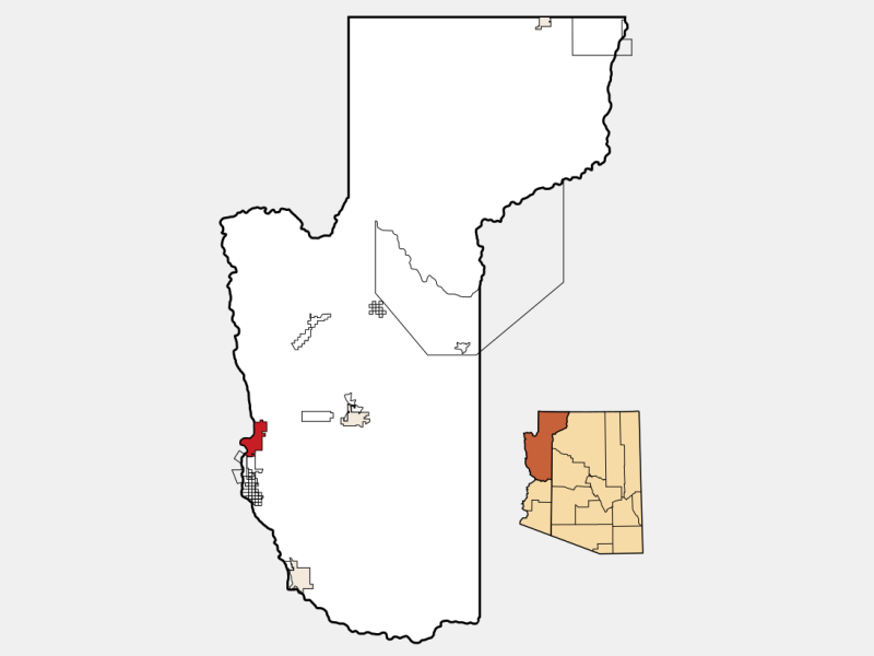Bullhead City locator map