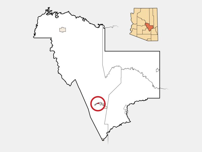 Claypool locator map