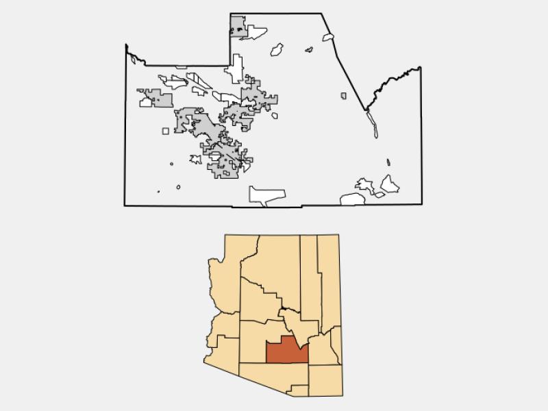 Coolidge locator map