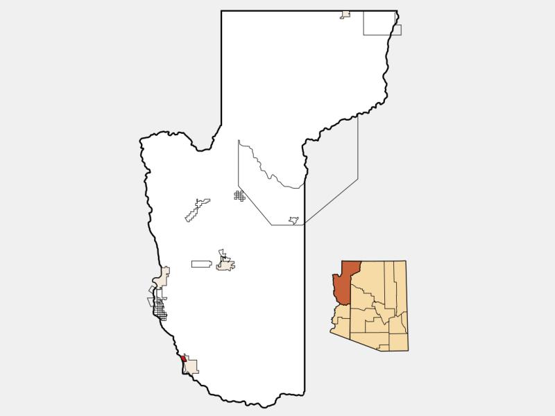 Desert Hills locator map