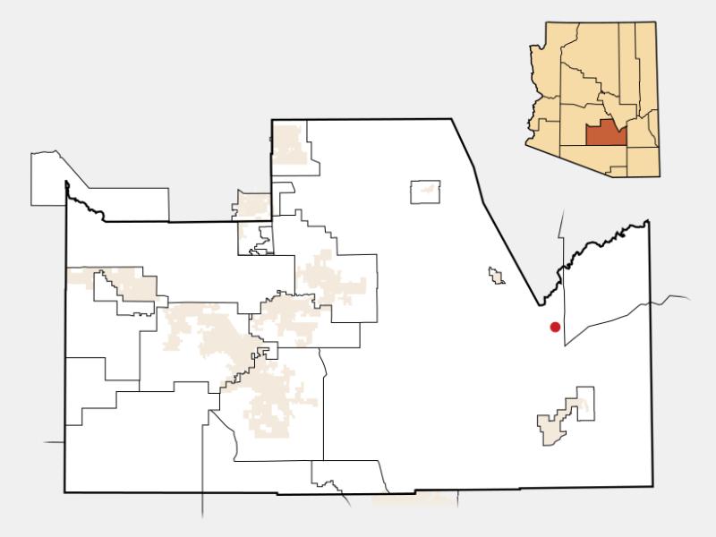 Dudleyville locator map