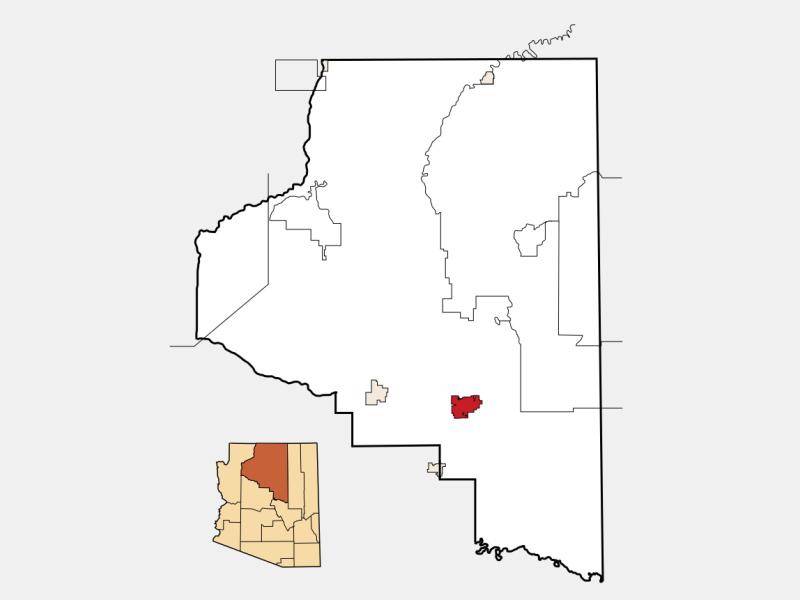 Flagstaff locator map