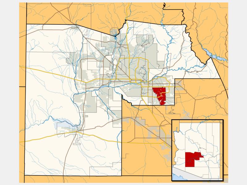 Gilbert locator map