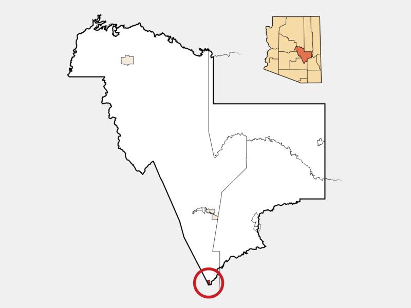 Hayden location map