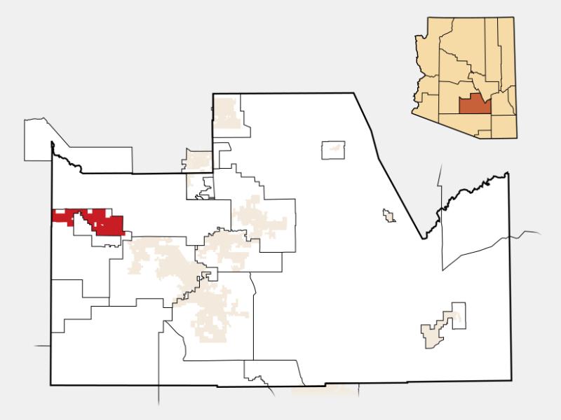 Maricopa locator map