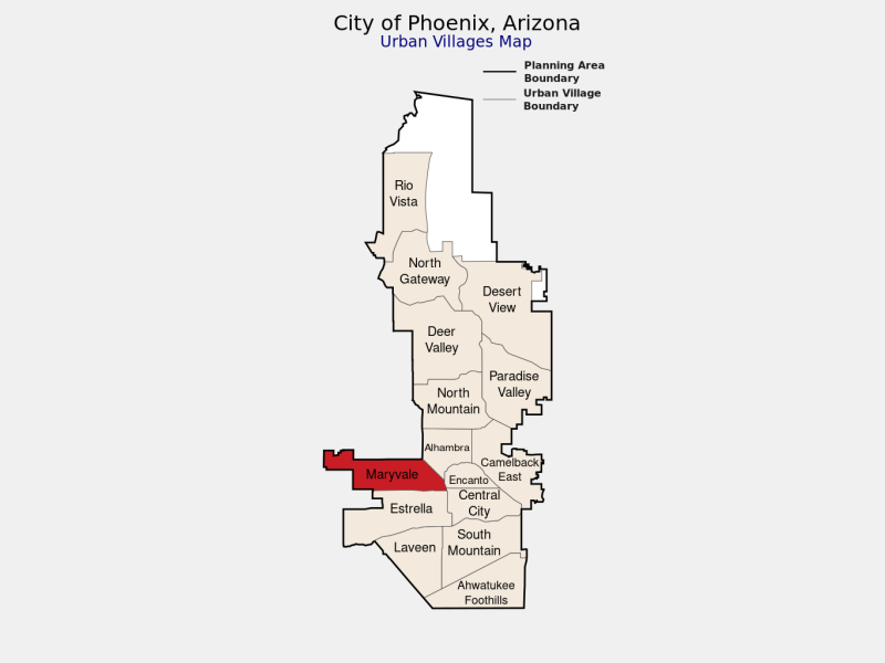 Maryvale locator map
