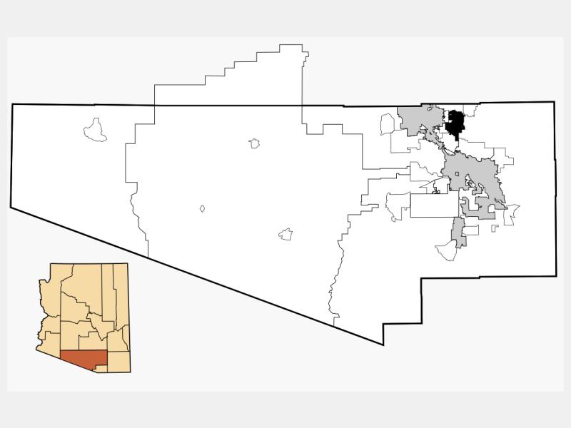 Oro Valley locator map