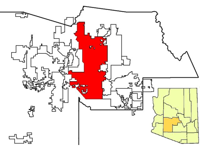 Phoenix locator map