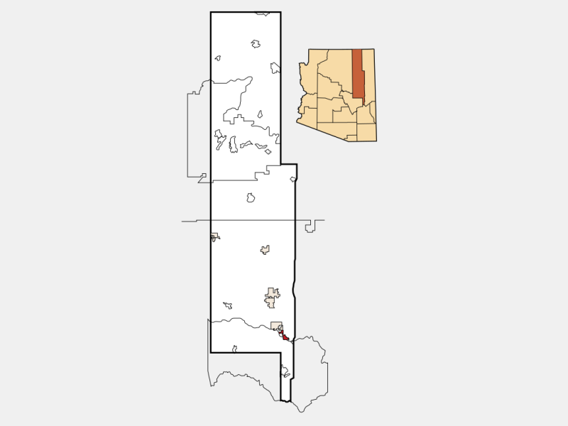Pinetop-Lakeside location map