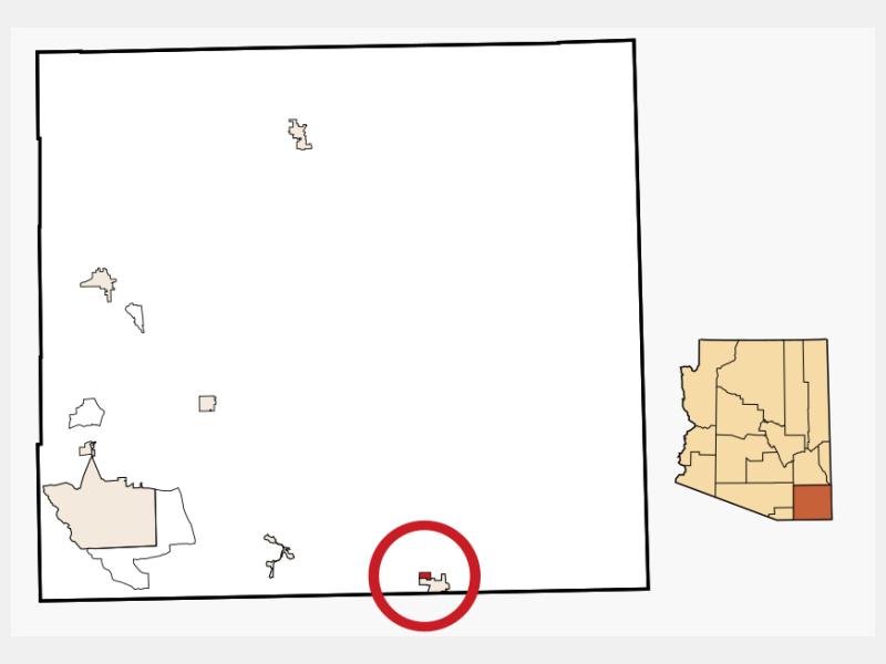 Pirtleville location map