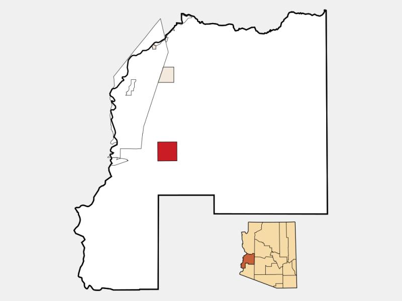 Quartzsite location map