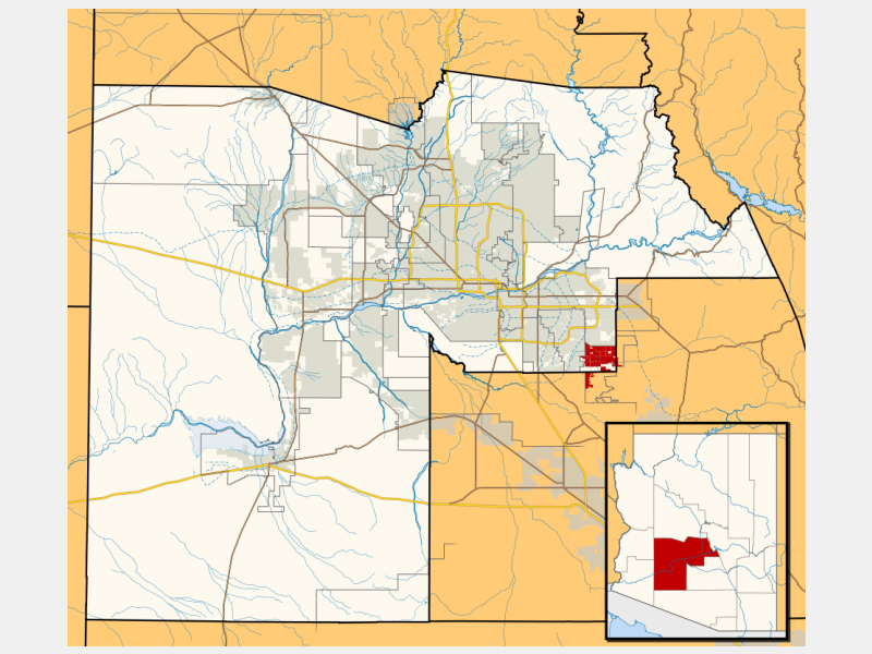 Queen Creek locator map