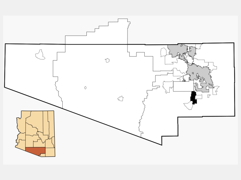 Sahuarita locator map