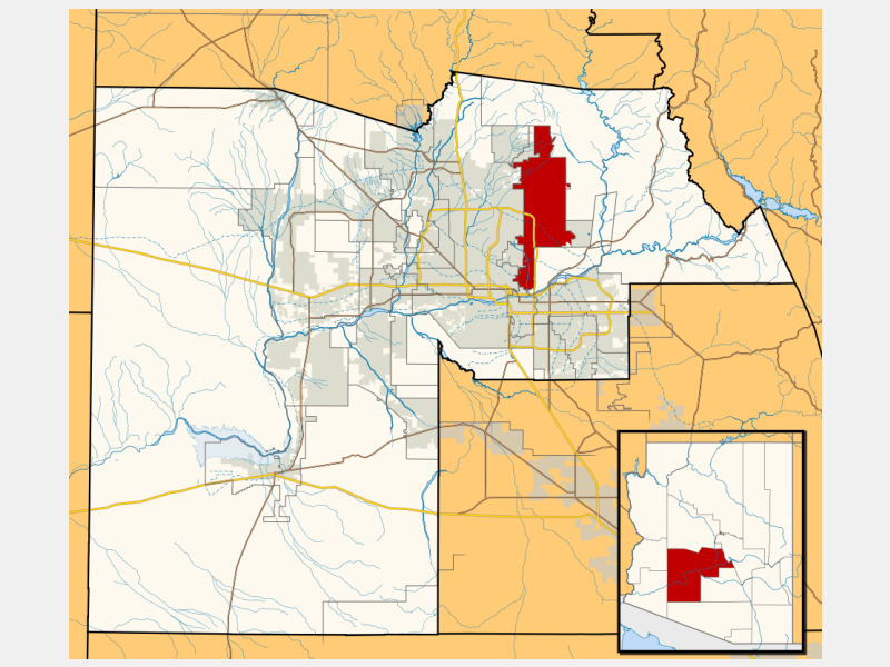 Scottsdale locator map