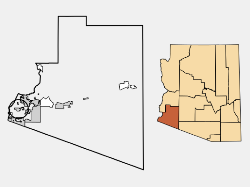 Somerton location map