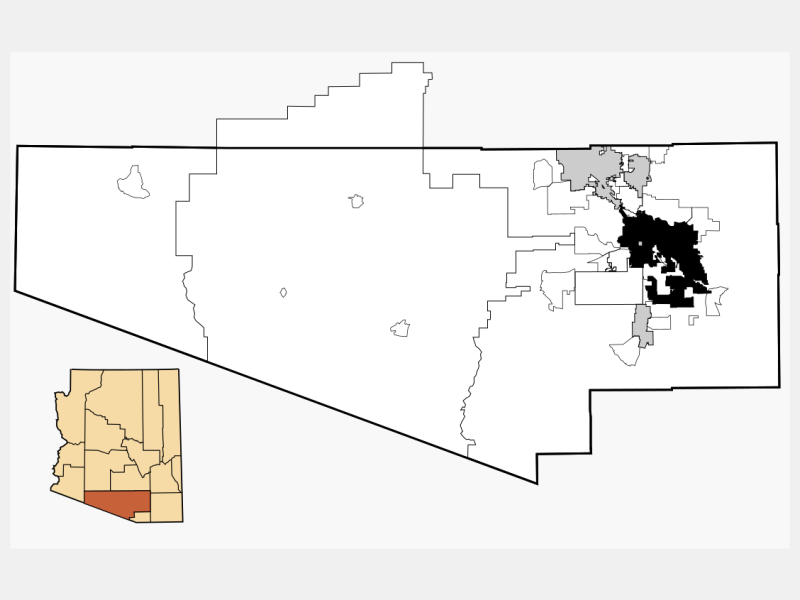 Tucson, AZ locator map