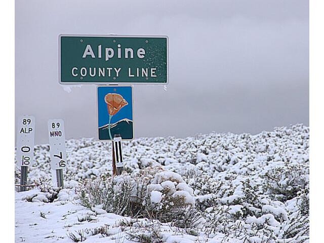 Alpine county sign image