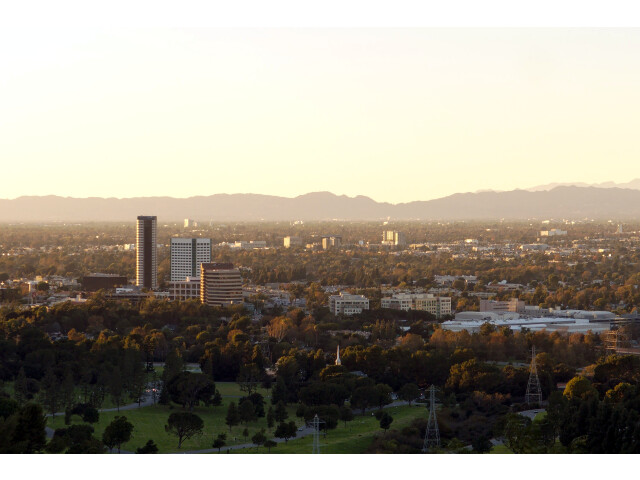 Burbank media district from Griffith Park 2015-11-07 image