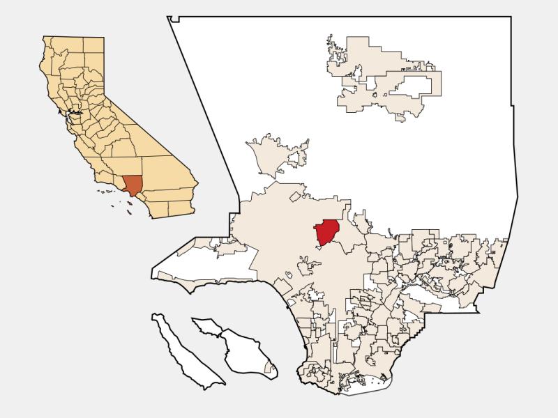 Burbank locator map