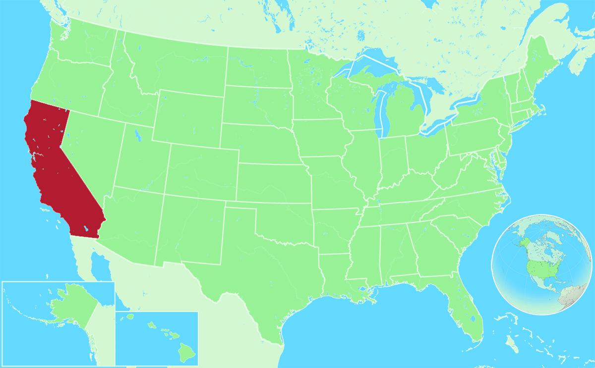 California locator map