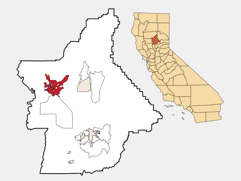 Chico locator map