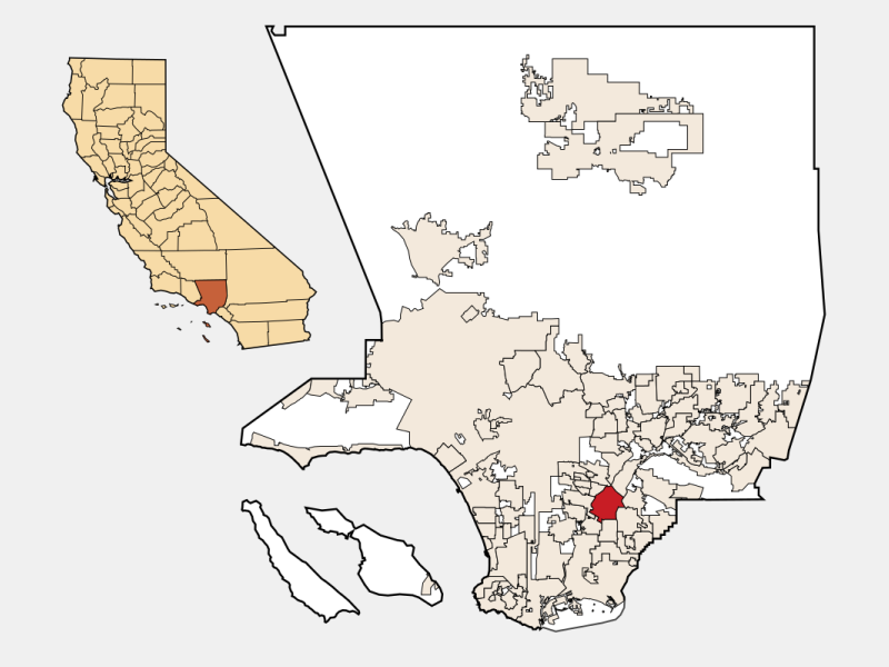 Downey, CA locator map