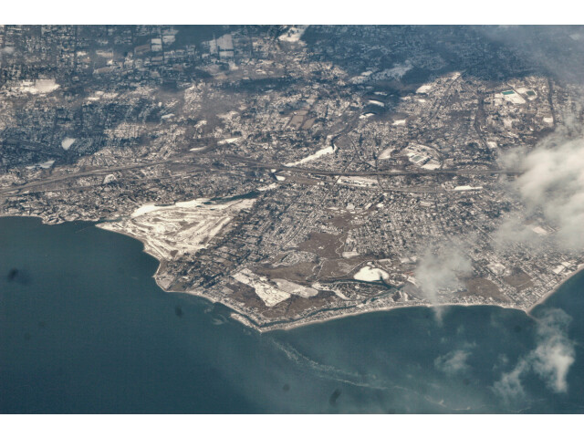 Fairfield CT aerial Pine Creek image