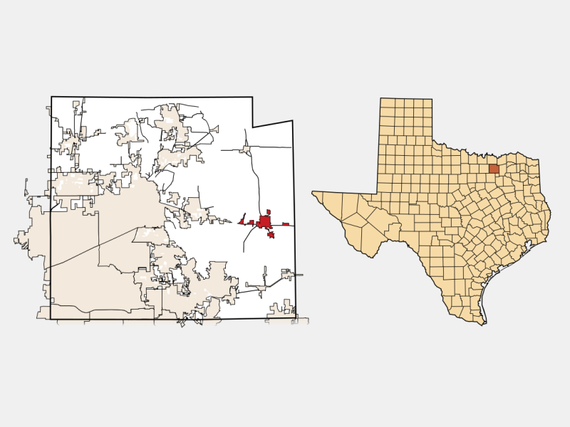 Farmersville locator map