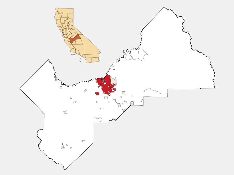 Fresno, CA locator map