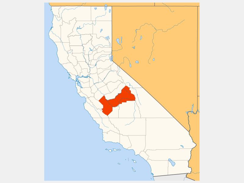 Fresno County, CA locator map