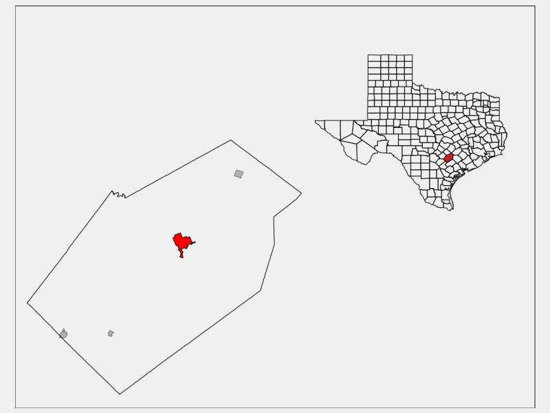 Gonzales locator map