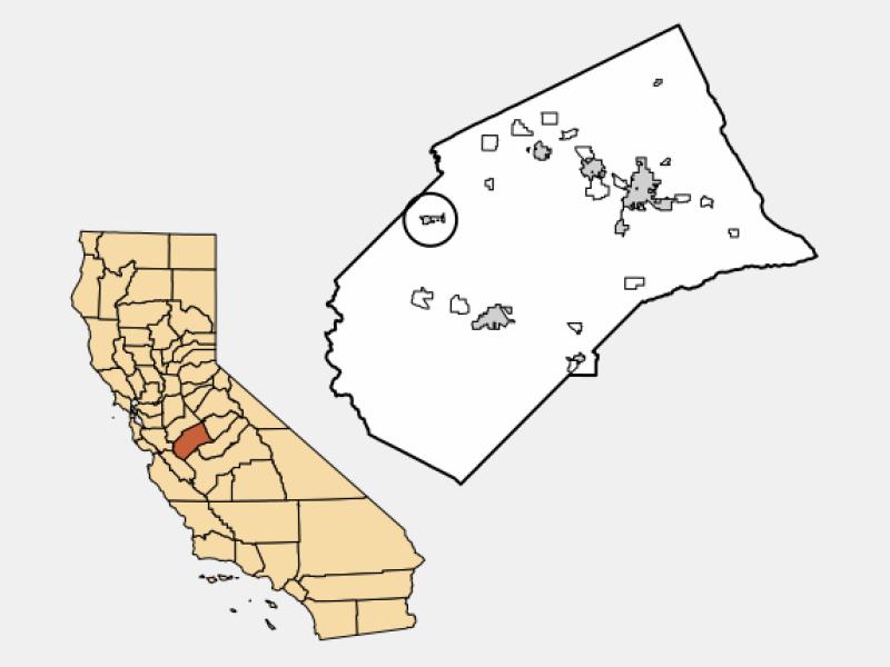 Gustine locator map