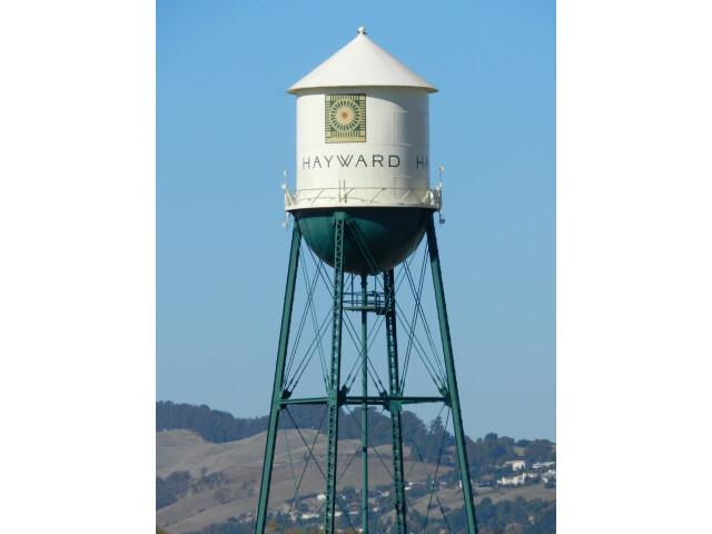 Hayward water tower  California image