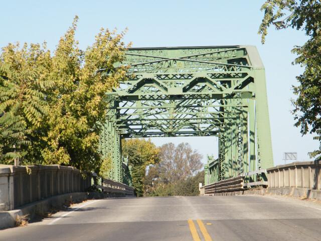 San Joaquin River Bridge at Mossdale Crossing  San Joaquin County CA USA September 2012 image