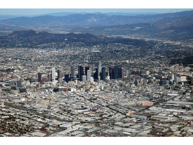 Los Angeles  CA from the air image