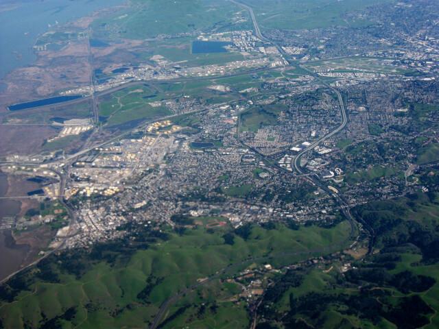 Aerial view of Martinez  California image