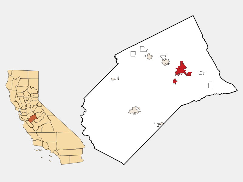 Merced locator map