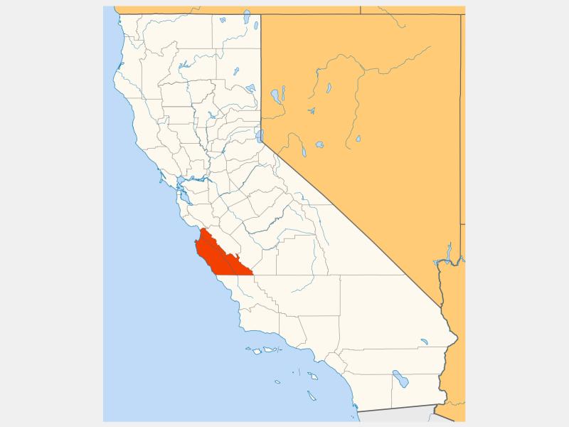 Monterey County, CA locator map