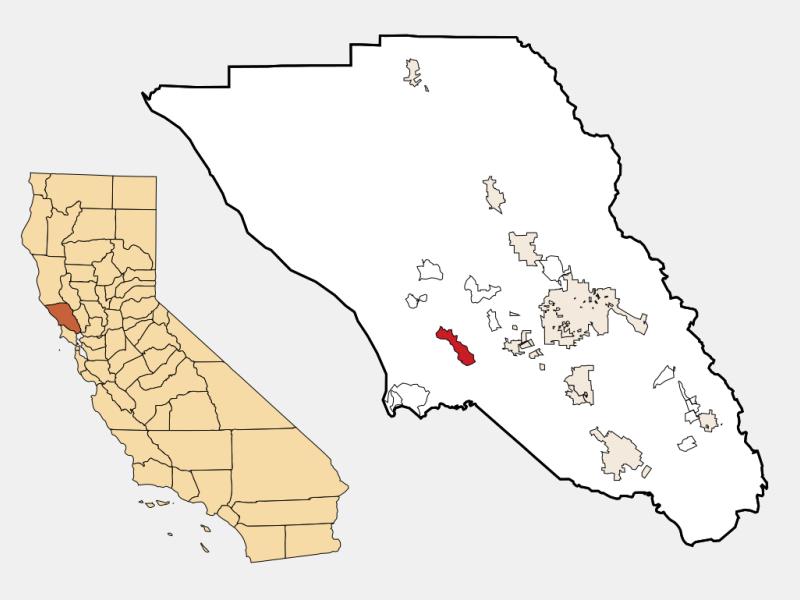 Occidental location map