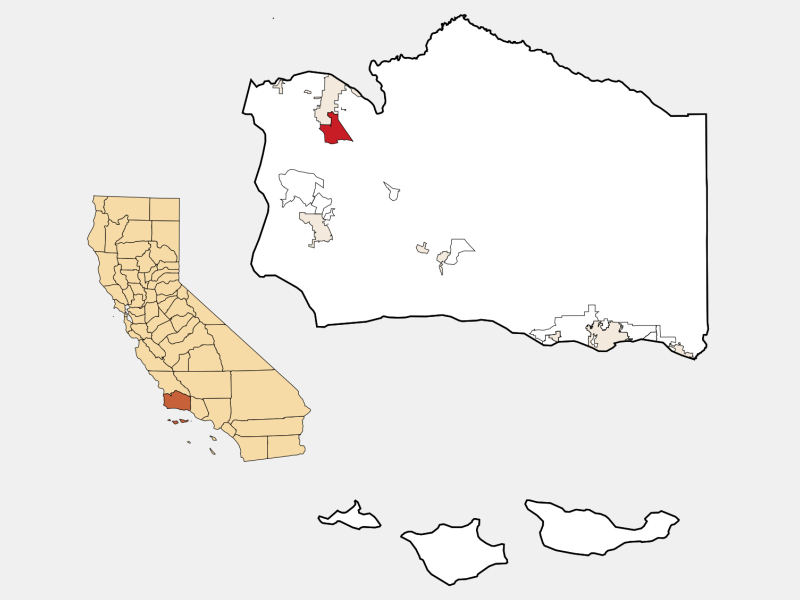 Orcutt location map