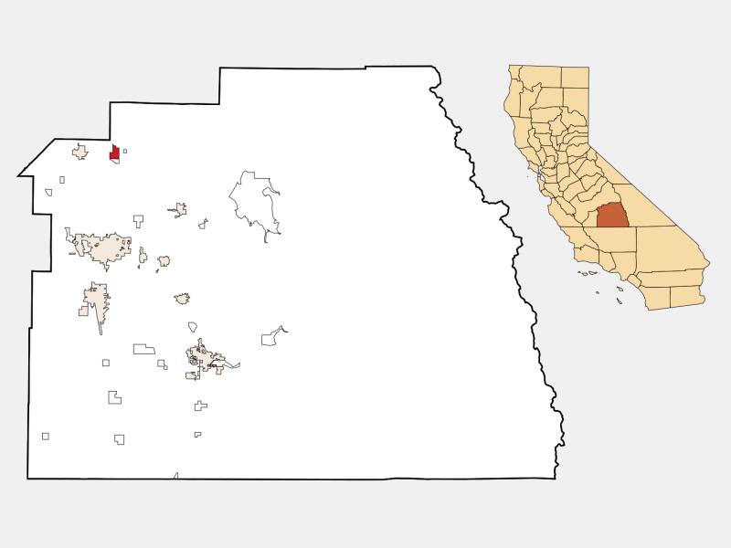 Orosi location map