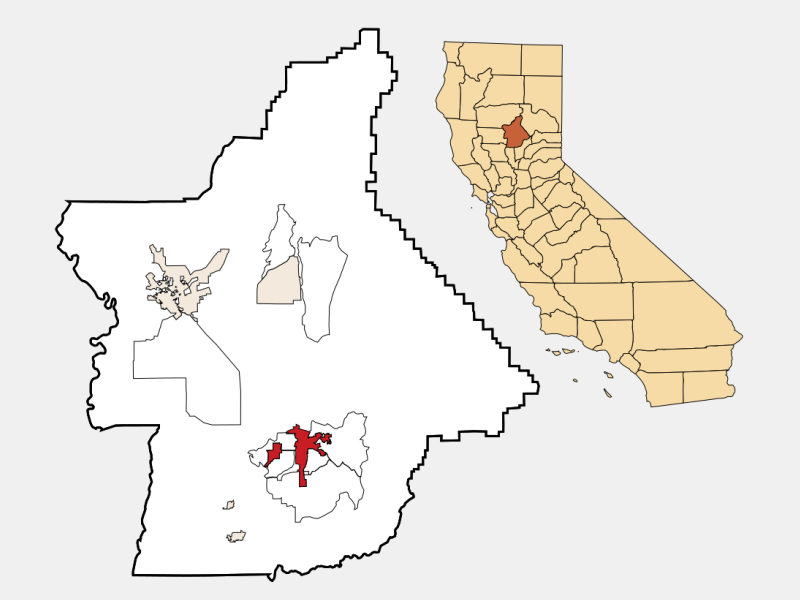 Oroville location map