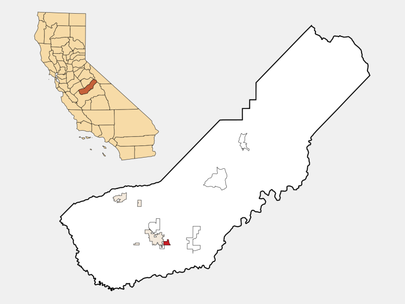 Parksdale locator map