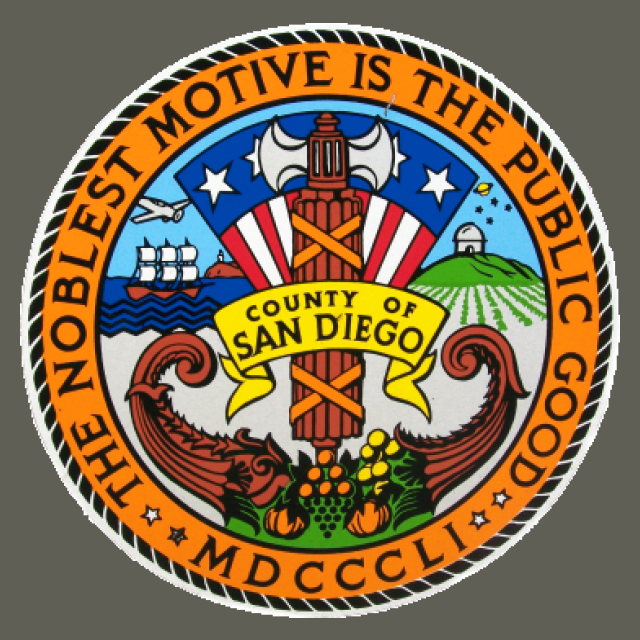 Seal of San Diego County  California seal image