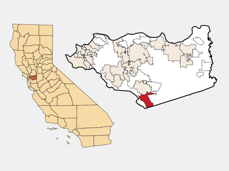San Ramon locator map