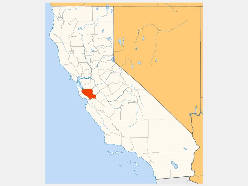Santa Clara County locator map