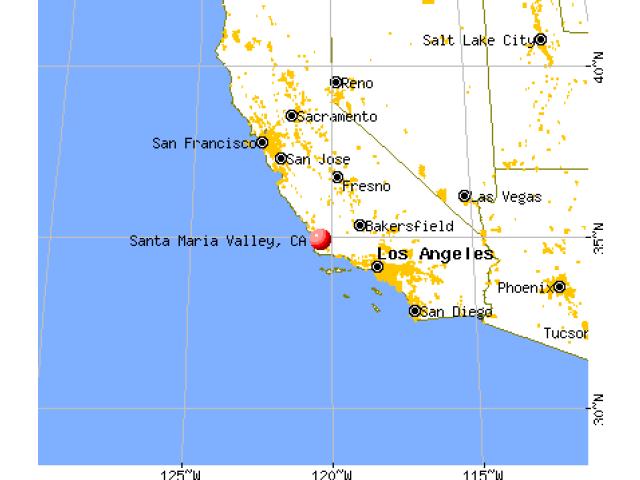 Santa Maria locator map
